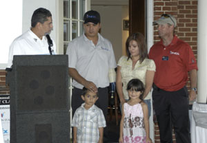 Folds of Honor Foundation Presentation to Staff Sgt. Romon Padilla family