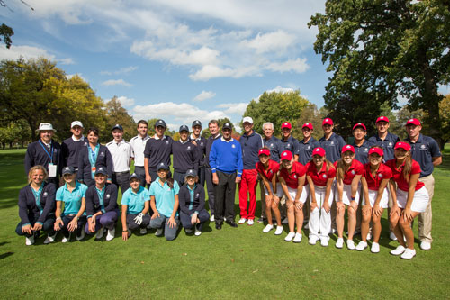 U.S. and European Jr. Ryder Cup Teams in Friendship Match