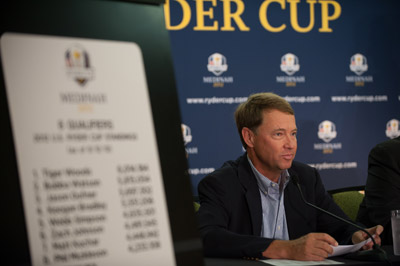 Davis Love III meets with the media following the PGA Championship