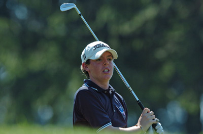 Rory McIlroy competes in 2004 Junior Ryder Cup